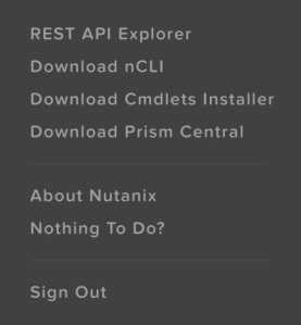 NutanixUserMenu1